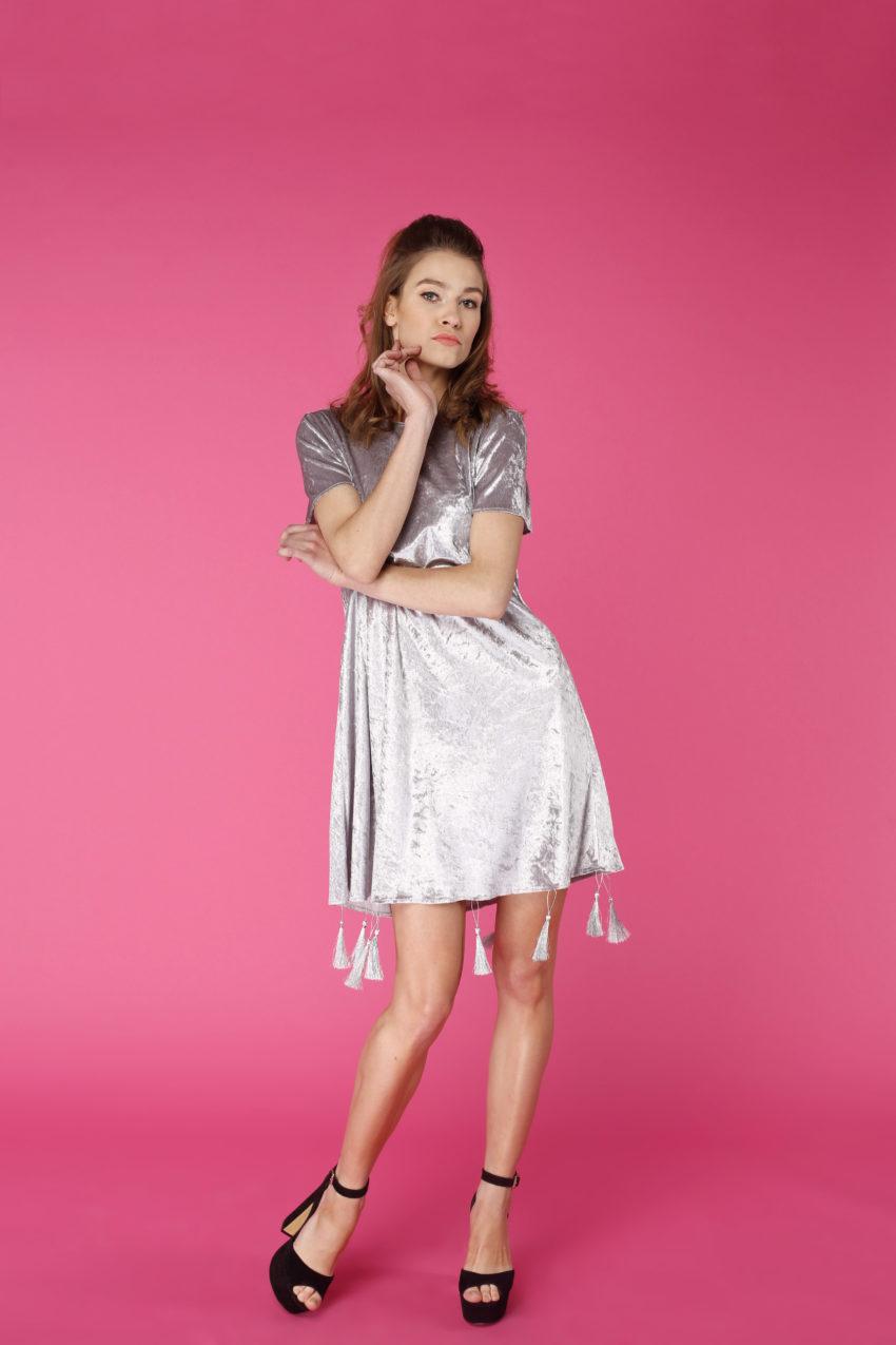 Sukienka trapezowa Dotsy - Srebrna góra