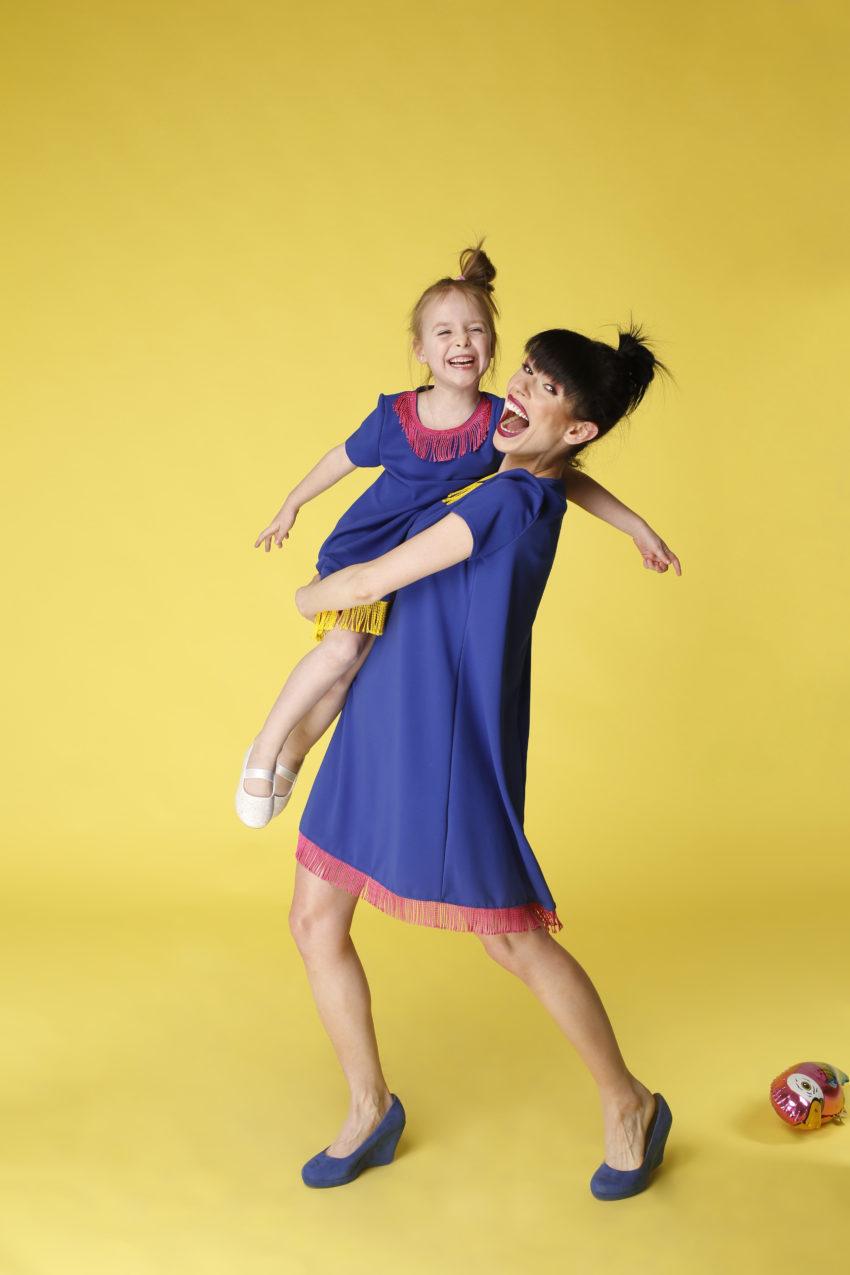 Sukienka trapezowa Dotsy - Mama i córka - Afryka Afryka