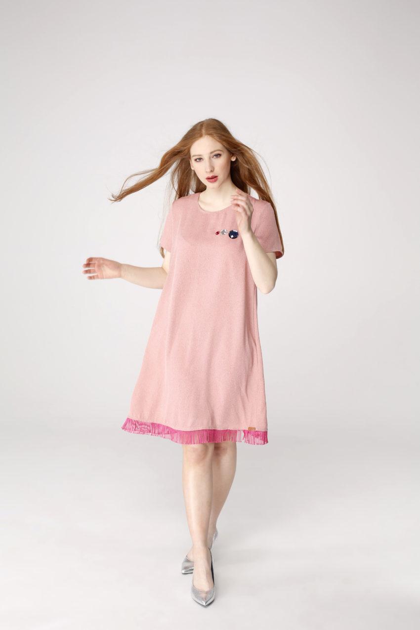Sukienka trapezowa Dotsy - Diamentowe liczi