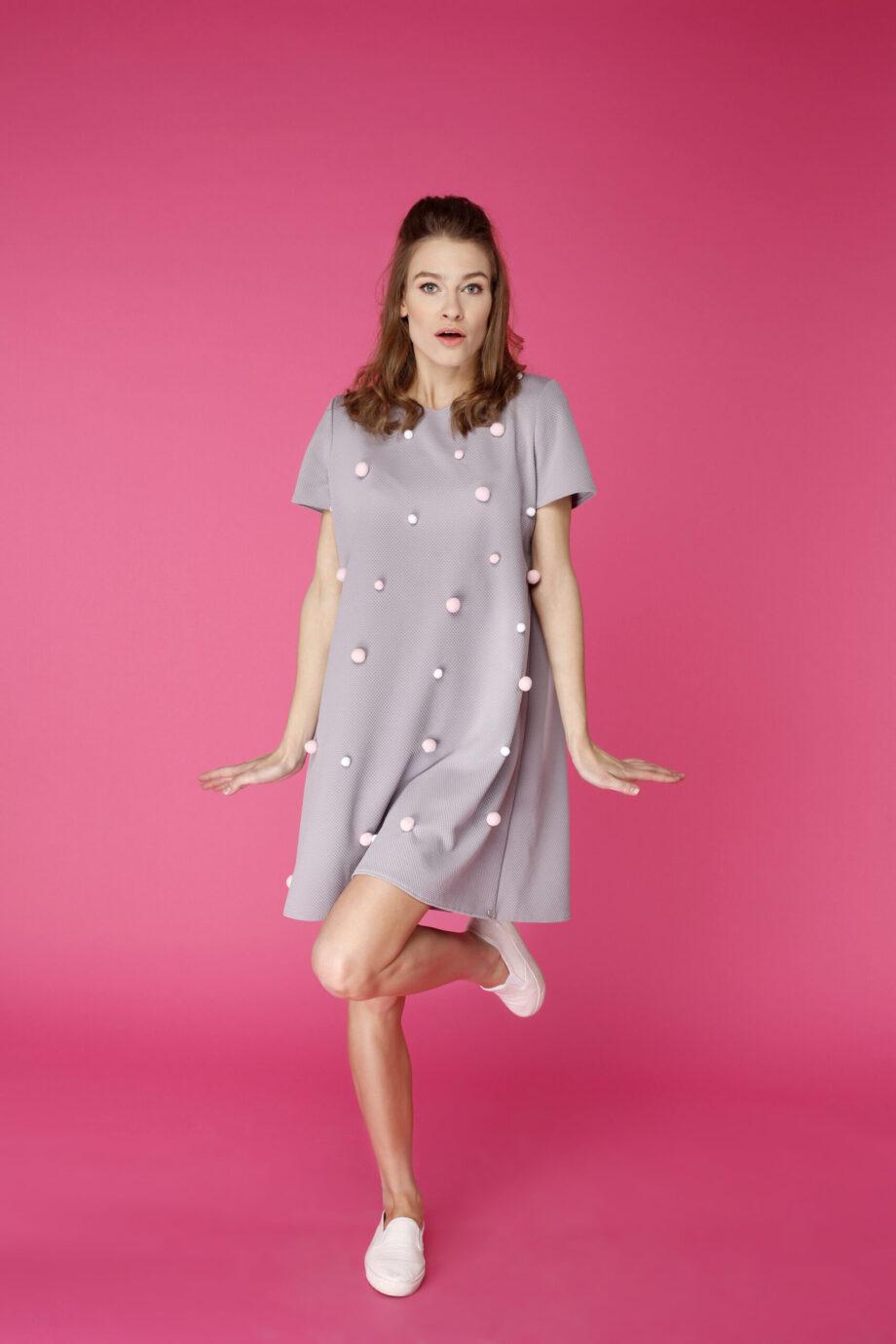 Sukienka trapezowa Dotsy - Dmuchawiec niepospolity
