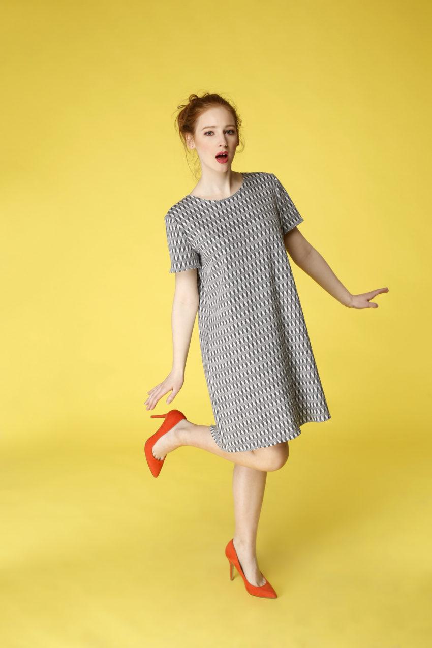 Sukienka trapezowa Dotsy - Gołąb miejski