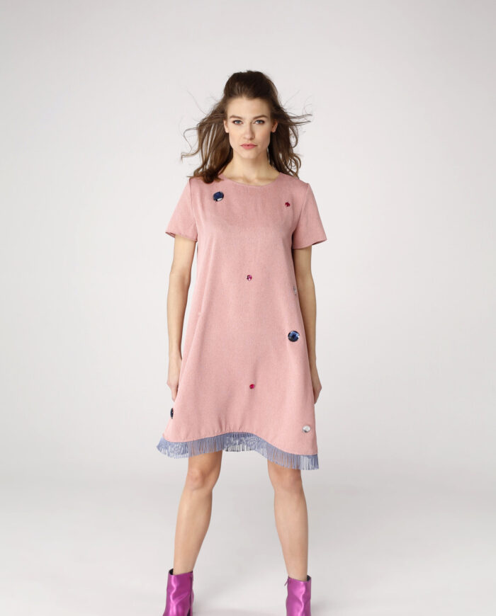 Sukienka trapezowa Dotsy - Grecka plaża