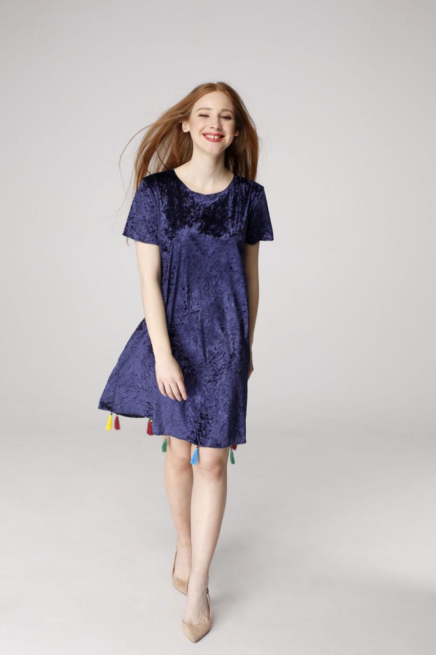 Sukienka trapezowa Dotsy - Kolorowe komety
