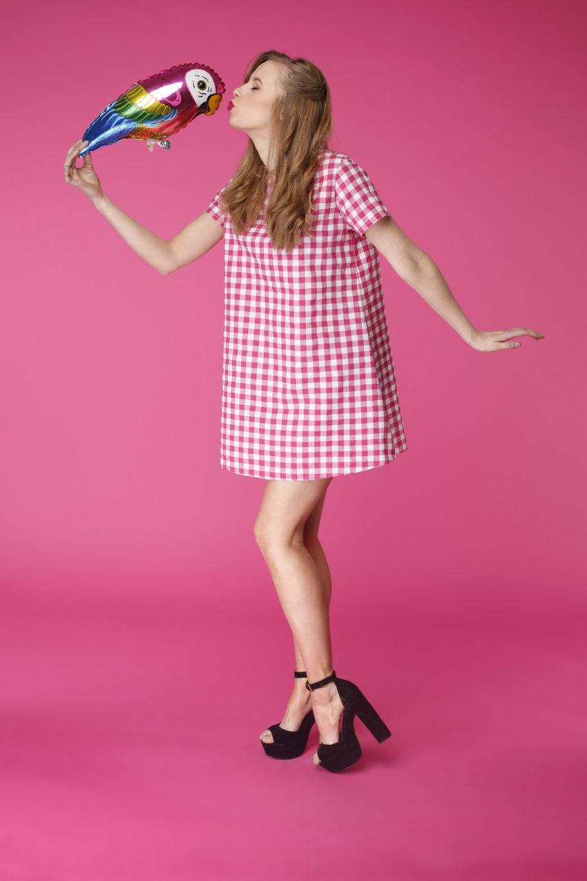 Sukienka trapezowa Dotsy – Pitaja na pikniku