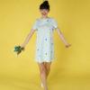 Sukienka trapezowa Dotsy - Planety w błękicie