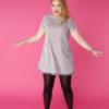 Sukienka trapezowa Dotsy - Pompony na szronie