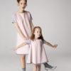 Sukienka trapezowa Dotsy - Mama i córka - Różowa skała